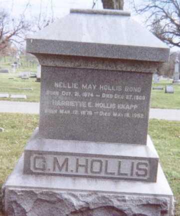 HOLLIS, FAMILY STONE  (C. M. HOLLIS) - Linn County, Iowa | FAMILY STONE  (C. M. HOLLIS) HOLLIS