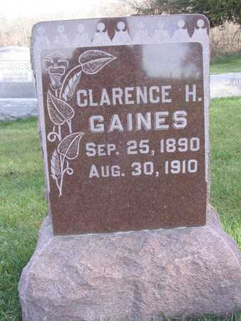 GAINES, CLARENCE H. - Linn County, Iowa   CLARENCE H. GAINES