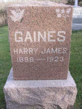 GAINES, HARRY JAMES - Linn County, Iowa | HARRY JAMES GAINES