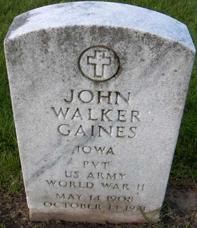GAINES, JOHN WALKER - Linn County, Iowa | JOHN WALKER GAINES