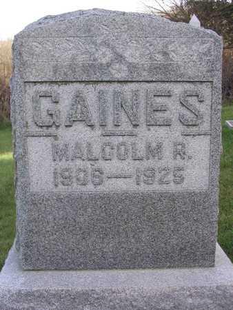 GAINES, MALCOLM R. - Linn County, Iowa | MALCOLM R. GAINES