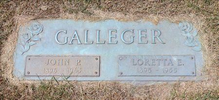 GALLEGER, JOHN P. - Linn County, Iowa | JOHN P. GALLEGER