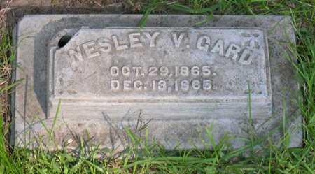 GARD, WESLEY V. - Linn County, Iowa   WESLEY V. GARD