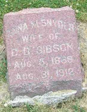 SNYDER GIBSON, ANNA M. - Linn County, Iowa | ANNA M. SNYDER GIBSON