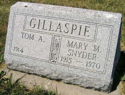 SNYDER GILLASPIE, MARY M. - Linn County, Iowa | MARY M. SNYDER GILLASPIE