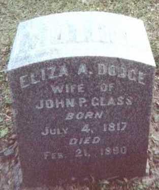DODGE GLASS, ELIZA A. - Linn County, Iowa | ELIZA A. DODGE GLASS