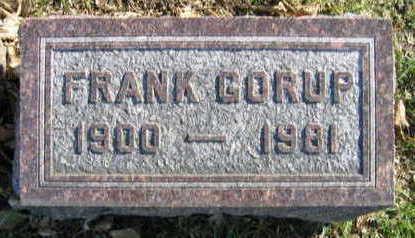 GORUP, FRANK - Linn County, Iowa | FRANK GORUP