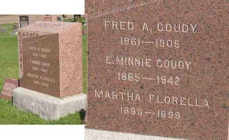 GOUDY, MARTHA FLORELLA - Linn County, Iowa | MARTHA FLORELLA GOUDY