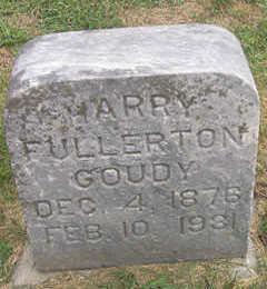 GOUDY, HARRY FULLERTON - Linn County, Iowa   HARRY FULLERTON GOUDY