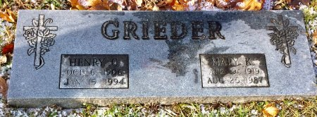 GRIEDER, HENRY C. - Linn County, Iowa | HENRY C. GRIEDER