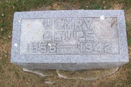 GRUPE, HENRY - Linn County, Iowa | HENRY GRUPE