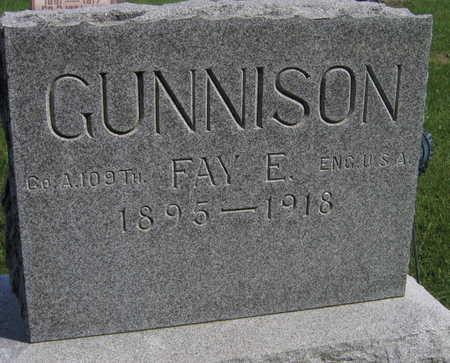 GUNNISON, FAY E. - Linn County, Iowa | FAY E. GUNNISON