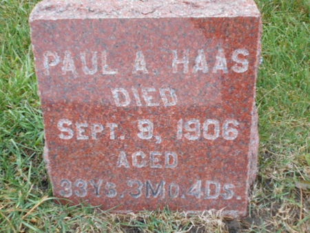 HAAS, PAUL A. - Linn County, Iowa | PAUL A. HAAS