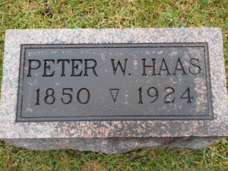 HAAS, PETER W. - Linn County, Iowa | PETER W. HAAS