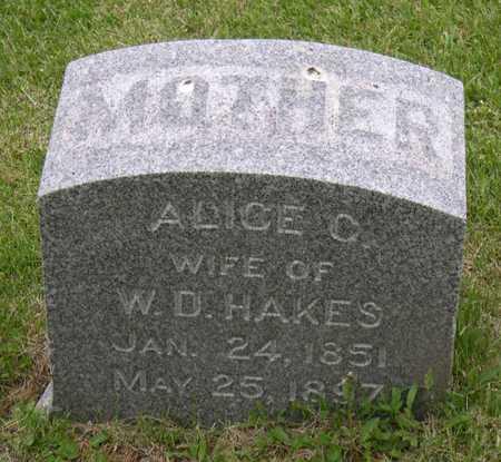 HAKES, ALICE C. - Linn County, Iowa | ALICE C. HAKES