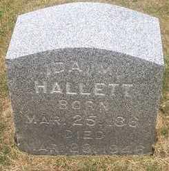 HALLETT, IDA M. - Linn County, Iowa   IDA M. HALLETT