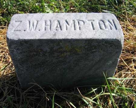 HAMPTON, Z. W. - Linn County, Iowa   Z. W. HAMPTON