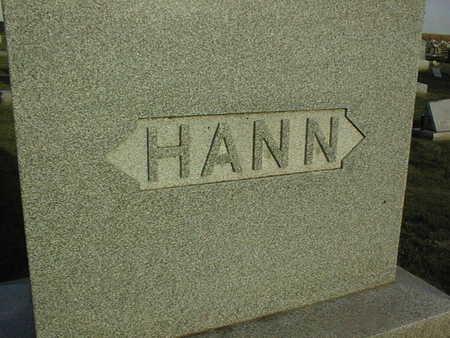 HANN, FAMILY STONE - Linn County, Iowa   FAMILY STONE HANN