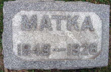 HANZLIK, MATKA - Linn County, Iowa | MATKA HANZLIK
