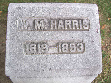 HARRIS, W. M. - Linn County, Iowa | W. M. HARRIS