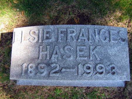 HASEK, ELSIE FRANCES - Linn County, Iowa   ELSIE FRANCES HASEK