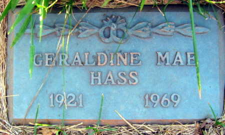 HASS, GERALDINE MAE - Linn County, Iowa | GERALDINE MAE HASS