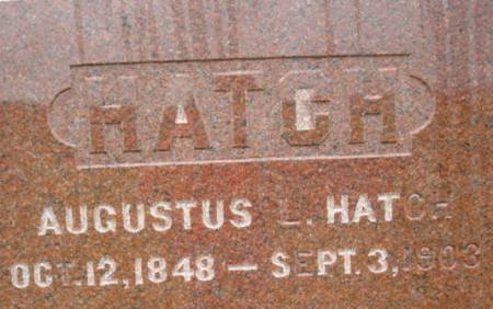 HATCH, AUGUSTUS L. - Linn County, Iowa | AUGUSTUS L. HATCH
