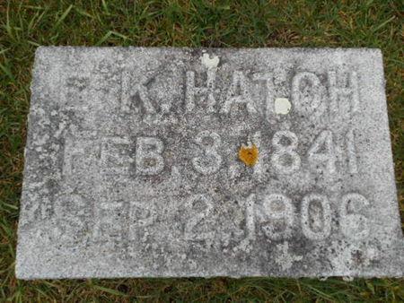 HATCH, E. K.   (EZRA K.) - Linn County, Iowa | E. K.   (EZRA K.) HATCH