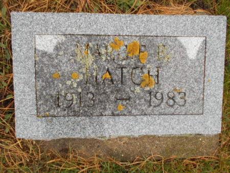 HATCH, MARGIE E. - Linn County, Iowa | MARGIE E. HATCH