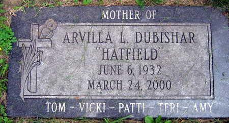 DUBISHAR HATFIELD, ARVILLA L. - Linn County, Iowa   ARVILLA L. DUBISHAR HATFIELD