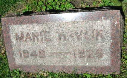 HAVLIK, MARIE - Linn County, Iowa   MARIE HAVLIK