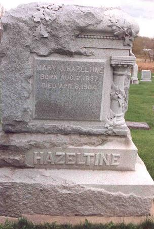MITCHELL HAZELTINE, MARY OLIVE - Linn County, Iowa | MARY OLIVE MITCHELL HAZELTINE