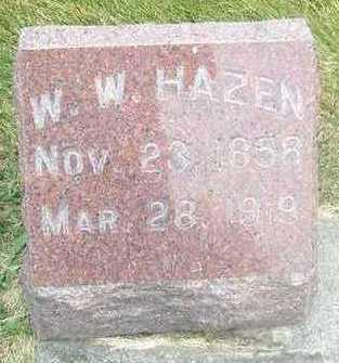 HAZEN, W. W. - Linn County, Iowa   W. W. HAZEN