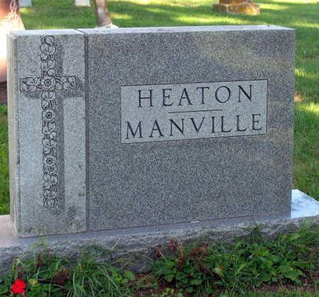 HEATON MANVILLE, FAMILY STONE - Linn County, Iowa   FAMILY STONE HEATON MANVILLE