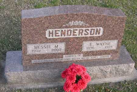 HENDERSON, BESSIE M. - Linn County, Iowa | BESSIE M. HENDERSON