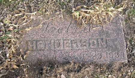 HENDERSON, LOTTIE - Linn County, Iowa | LOTTIE HENDERSON