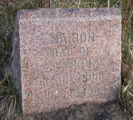 HENDERSON, MARION - Linn County, Iowa | MARION HENDERSON
