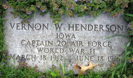 HENDERSON, VERNON W. - Linn County, Iowa | VERNON W. HENDERSON