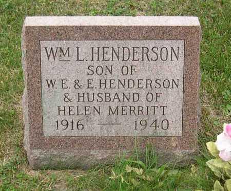 HENDERSON, WM. L. - Linn County, Iowa   WM. L. HENDERSON