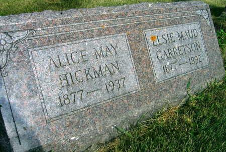 HICKMAN, ALICE MAY - Linn County, Iowa | ALICE MAY HICKMAN
