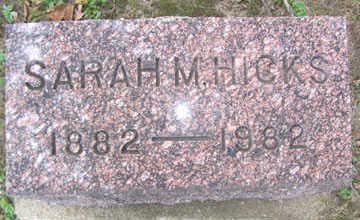HICKS, SARAH M. - Linn County, Iowa | SARAH M. HICKS