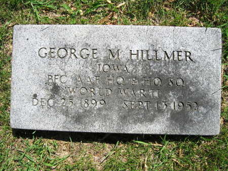 HILLMER, GEORGE M. - Linn County, Iowa | GEORGE M. HILLMER
