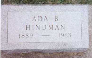 HINDMAN, ADA B. - Linn County, Iowa | ADA B. HINDMAN