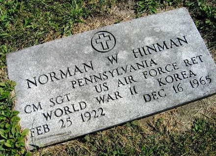 HINMAN, NORMAN W. - Linn County, Iowa | NORMAN W. HINMAN
