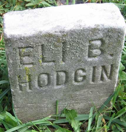 HODGIN, ELI B. - Linn County, Iowa   ELI B. HODGIN