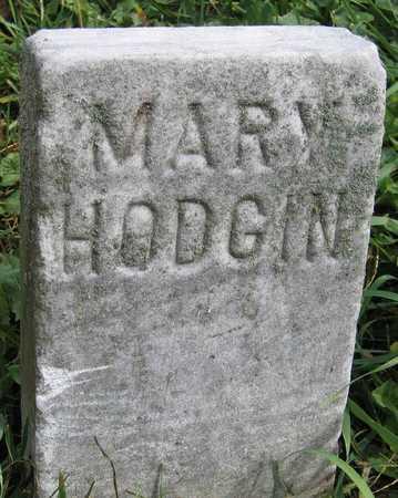 HODGIN, MARY - Linn County, Iowa | MARY HODGIN