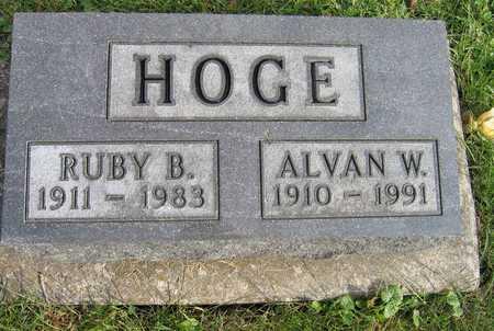 HOGE, ALVAN W. - Linn County, Iowa | ALVAN W. HOGE