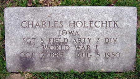 HOLECHEK, CHARLES - Linn County, Iowa   CHARLES HOLECHEK