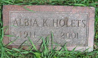 HOLETS, ALBIA K. - Linn County, Iowa | ALBIA K. HOLETS