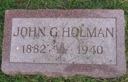 HOLMAN, JOHN G. - Linn County, Iowa | JOHN G. HOLMAN